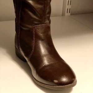 Nordstrom Brand girls brown riding boots